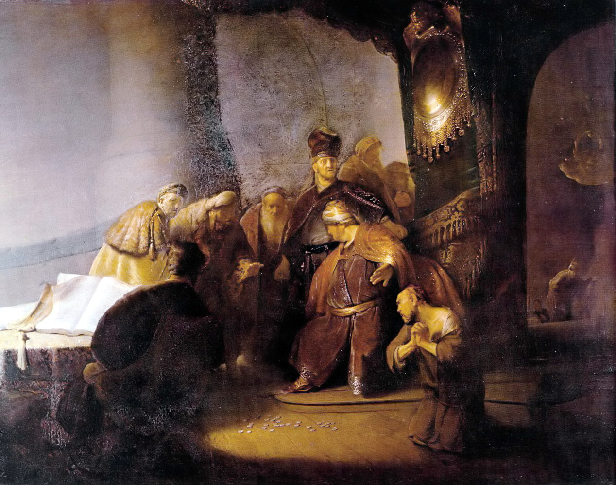 2019 07 Judas Returning the Thirty Silver Pieces Rembrandt